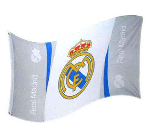 REAL MADRID FOOTBALL CLUB FLAG LARGE OFFICIAL 5' X 3'